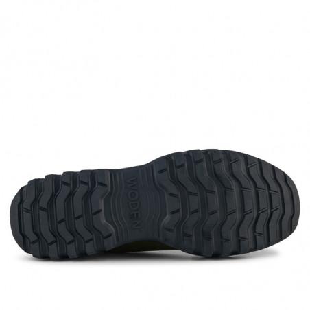 Woden Gummistøvler, Magda Rubber Track, Dark Olive/Black, gummistøvler til kvinder - sål