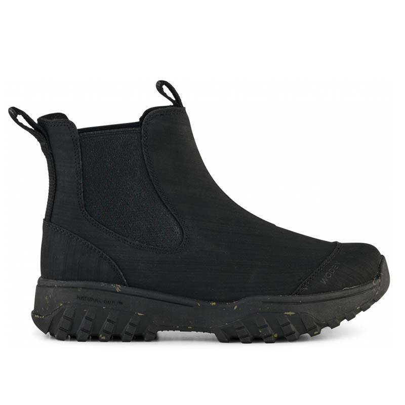 Woden Gummistøvler, Magda Rubber Track, Black, gummistøvler til kvinder