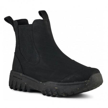 Woden Gummistøvler, Magda Rubber Track, Black, gummistøvler til kvinder - fra siden