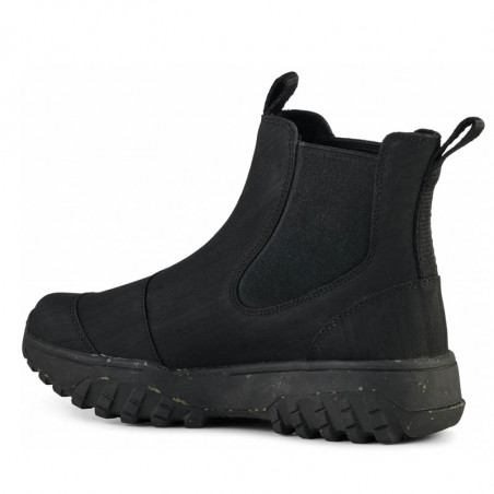 Woden Gummistøvler, Magda Rubber Track, Black, gummistøvler til kvinder - skrå
