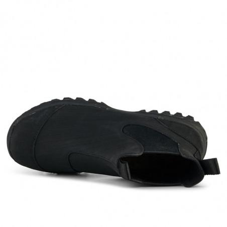 Woden Gummistøvler, Magda Rubber Track, Black, gummistøvler til kvinder - oppe fra