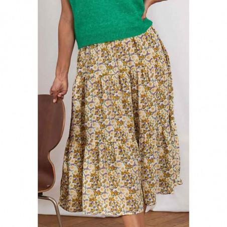 Lollys Laundry nederdel, blomstret nederdel, flower print, detalje