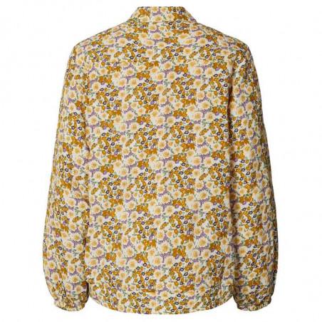 Lollys Laundry Jakke, Mason, Flower Print, jakke med blomsterprint, forårsjakke, bagside