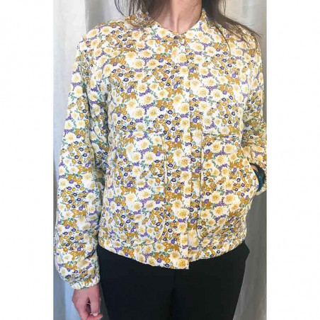 Lollys Laundry Jakke, Mason, Flower Print, jakke med blomsterprint, forårsjakke