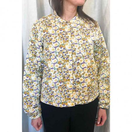 Lollys Laundry Jakke, Mason, Flower Print, jakke med blomsterprint, forårsjakke, sommerjakke