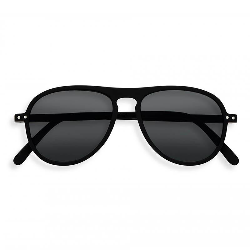 Izipizi Solbriller, I Sun, Black Sunglasses Unisex Dame solbriller i sort