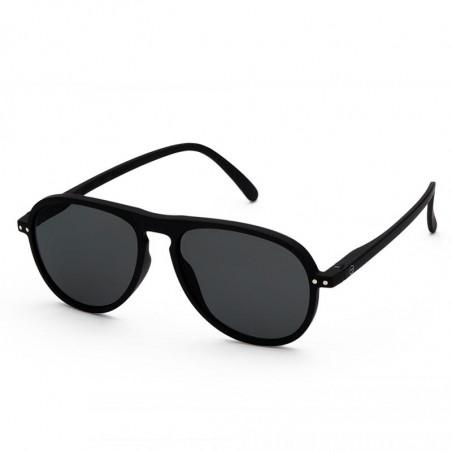 Izipizi Solbriller, I Sun, Black Sunglasses Unisex Dame solbriller i sort dråbeformede