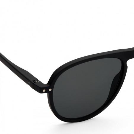 Izipizi Solbriller, I Sun, Black Sunglasses Unisex Dame solbriller i sort detalje