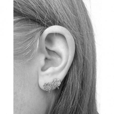 Pico Øreringe, Clover Crystal Stud, Clear Pico Copenhagen smykker på model
