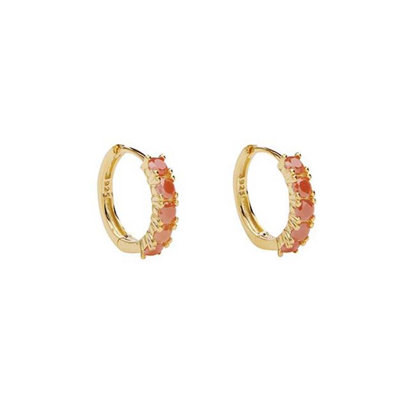 Pico Øreringe, Summer Huggies, Gold/Coral pico copenhagen smykker