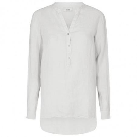 Mos Mosh Bluse, Danna Linen, White, hør skjorte
