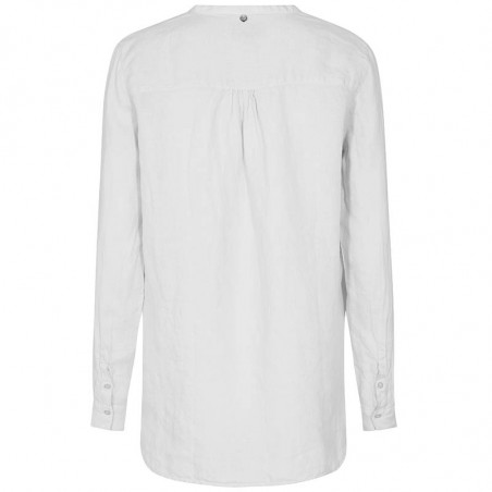 Mos Mosh Bluse, Danna Linen, White, hør skjorte, linnen