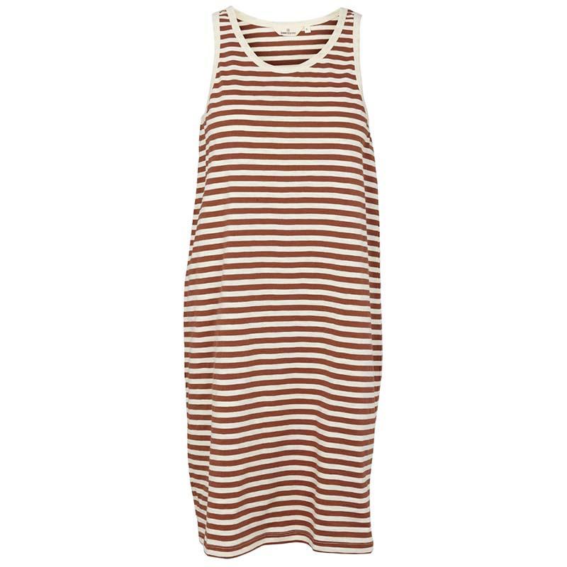 Basic Apparel Kjole, Rita Tank, Mink, tank top kjole, tank top dress, stribet kjole, sommerkjole