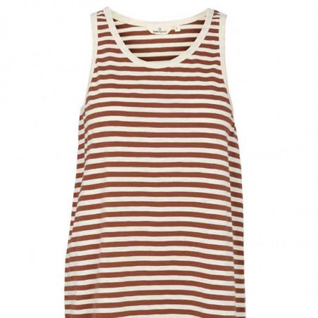 Basic Apparel Kjole, Rita Tank, Mink, tank top kjole, tank top dress, stribet kjole, sommerkjole, detalje
