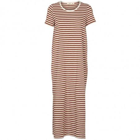 Basic Apparel Kjole, Rita Tee Long, Mink, stribet kjole, hverdagskjoler, sommerkjole