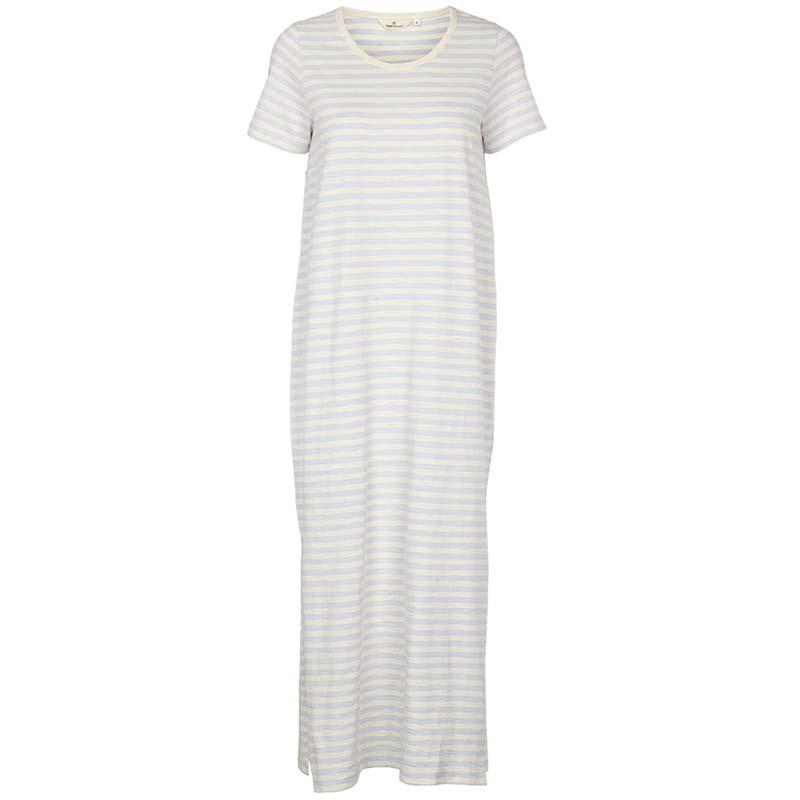 Basic Apparel Kjole, Rita Tee Long, Artic Ice, sommerkjole, hverdagskjole, striber kjole