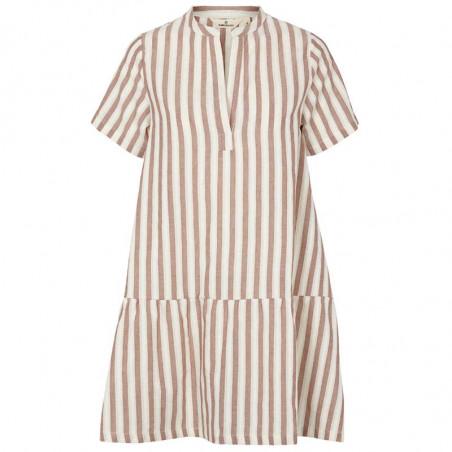Basic Apparel Kjole, Kicki, Mink, kjole med striber, stribet kjole, sommerkjole, hverdagskjole