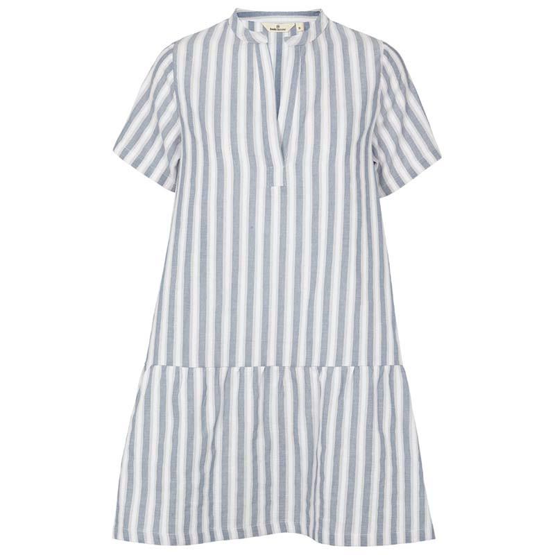 Basic Apparel Kjole, Kicki, Bijou Blue, sommerkjole, kjole til stranden, kjole med striber, hverdagskjole