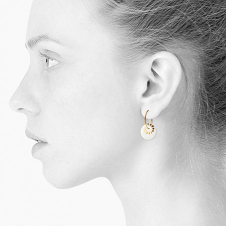 Scherning Øreringe, Bloom, Gold, guld øreringe - Model