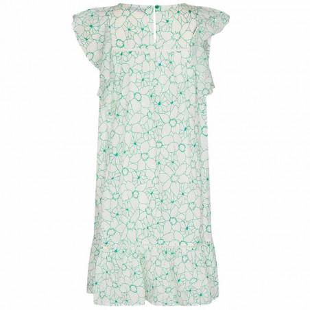 Nümph Kjole, Nugrenoble, Cloud Dancer, sommerkjole, kjole til hverdag, hverdagskjole, kjole med print - Bagside