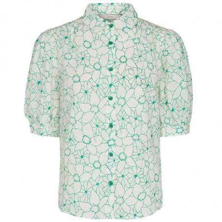 Nümph Skjorte, Nugrenoble, Cloud Dancer, kortærmede skjorter, numph tøj, nümph bluser