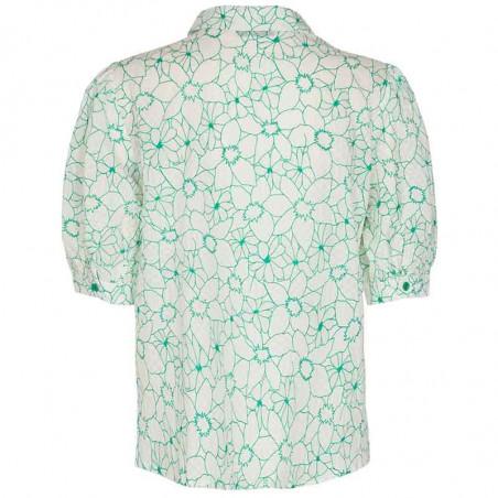 Nümph Skjorte, Nugrenoble, Cloud Dancer, kortærmede skjorter, numph tøj, nümph bluser  - bagside