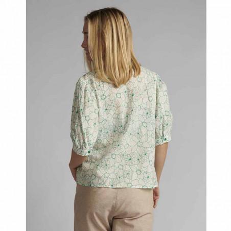 Nümph Skjorte, Nugrenoble, Cloud Dancer, kortærmede skjorter, numph tøj, nümph bluser - Bag fra
