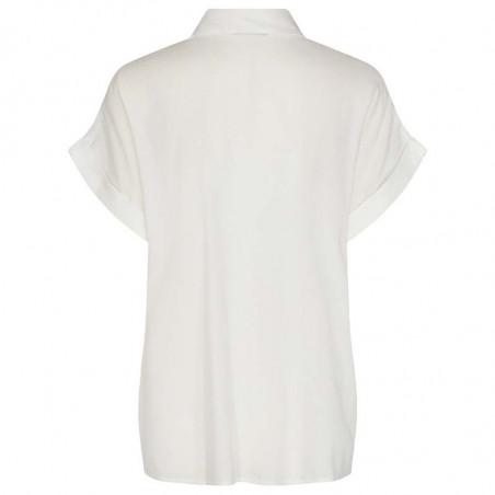 Nümph Skjorte, Nucathy, Bright White, hvid skjorte, Nümph tøj, Numph bluse - bagside