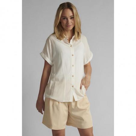 Nümph Skjorte, Nucathy, Bright White, hvid skjorte, Nümph tøj, Numph bluse - Model