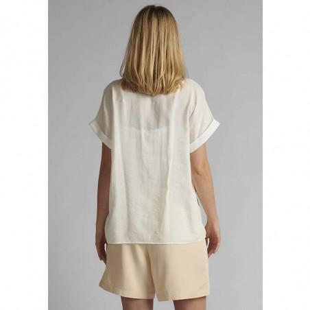 Nümph Skjorte, Nucathy, Bright White, hvid skjorte, Nümph tøj, Numph bluse  - bagfra