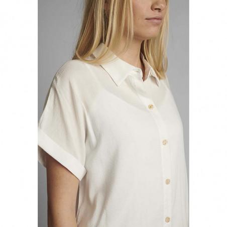 Nümph Skjorte, Nucathy, Bright White, hvid skjorte, Nümph tøj, Numph bluse - Detalje