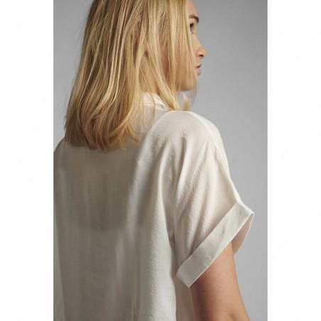 Nümph Skjorte, Nucathy, Bright White, hvid skjorte, Nümph tøj, Numph bluse - ærmer