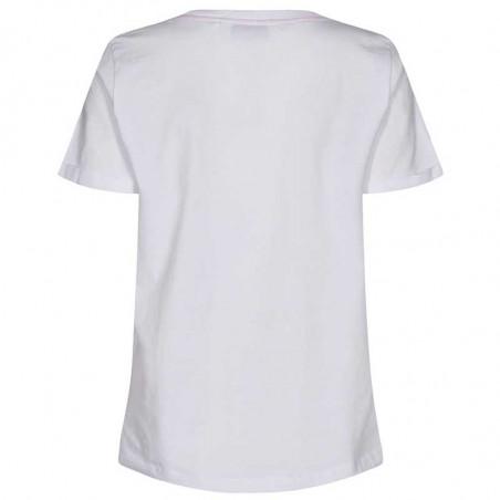 Nümph T-shirt, Nucarina, Bright White, basic T-shirt, numph tøj, numph bluse - bagside