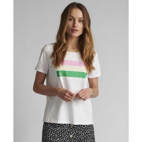 Nümph T-shirt, Nucarina, Bright White, basic T-shirt, numph tøj, numph bluse - model
