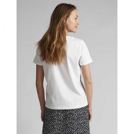 Nümph T-shirt, Nucarina, Bright White, basic T-shirt, numph tøj, numph bluse - bag fra