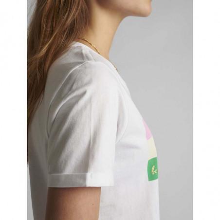 Nümph T-shirt, Nucarina, Bright White, basic T-shirt, numph tøj, numph bluse - opsmøg