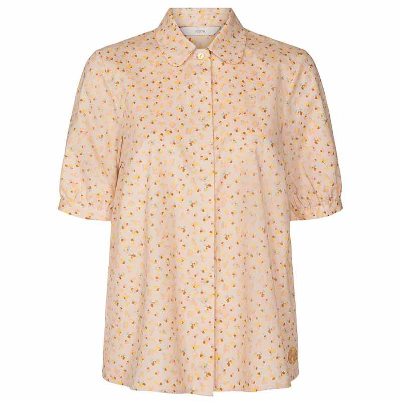 Nümph Skjorte, Nucharlie, Brazillian Sand, kortærmede skjorte, numph tøj