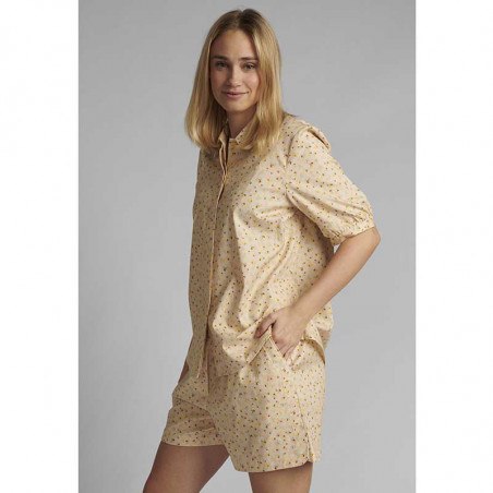 Nümph Skjorte, Nucharlie, Brazillian Sand, kortærmede skjorte, numph tøj - model