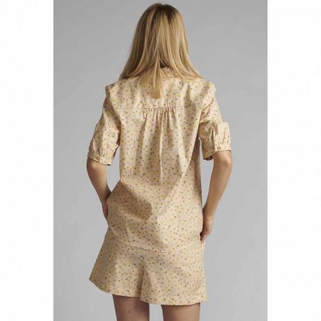 Nümph Skjorte, Nucharlie, Brazillian Sand, kortærmede skjorte, numph tøj - Bag fra