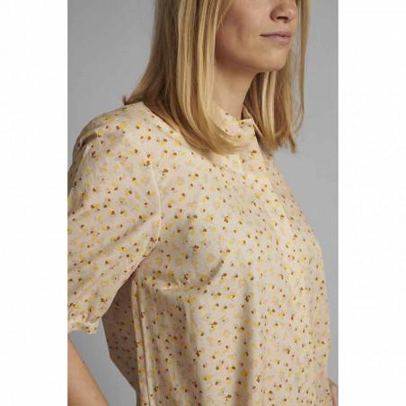 Nümph Skjorte, Nucharlie, Brazillian Sand, kortærmede skjorte, numph tøj - print