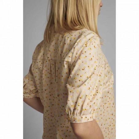 Nümph Skjorte, Nucharlie, Brazillian Sand, kortærmede skjorte, numph tøj - ærme