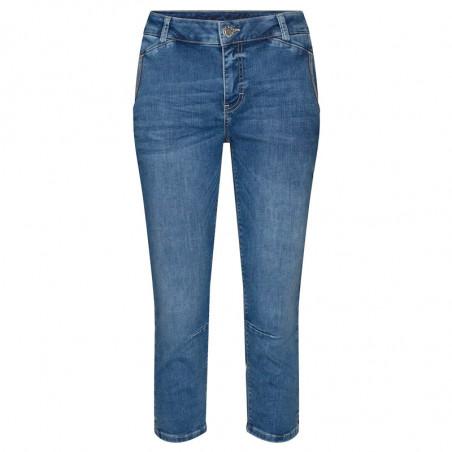 Mos Mosh Jeans, Etta Novel, Blue, trekvartlange bukser, Mos Mosh bukser
