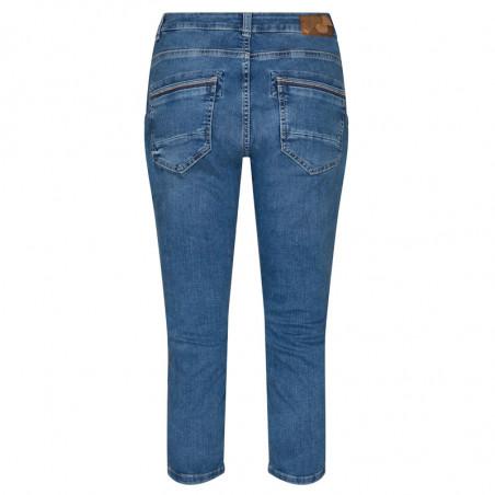 Mos Mosh Jeans, Etta Novel, Blue, trekvartlange bukser, Mos Mosh bukser - bagside