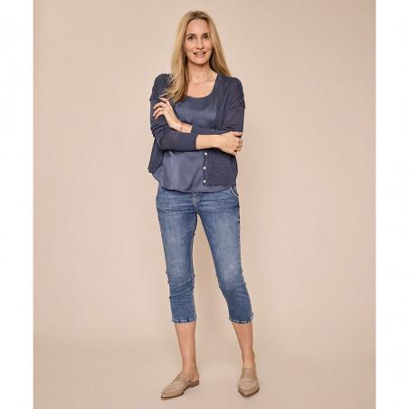 Mos Mosh Jeans, Etta Novel, Blue, trekvartlange bukser, Mos Mosh bukser - model, capribukser
