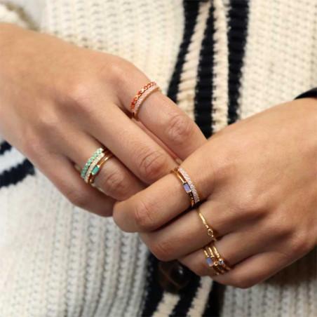 Pico Ring, Finley Crystal, Mint Pico Copenhagen smykker look