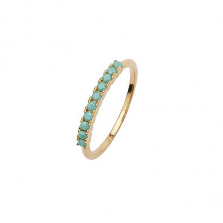 Pico Ring, Finley Crystal, Green Tourquise