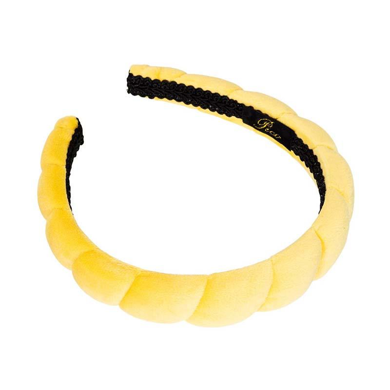 Pico Hårbånd, Salica Velour, Lemon Velvet Pico copenhagen hårbøjle