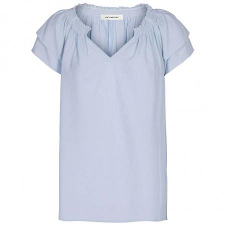 Co'Couture Bluse, Sunrise, Pale Blue, Co'Couture sunrise top pale blue, sommertop, top med korte ærmer
