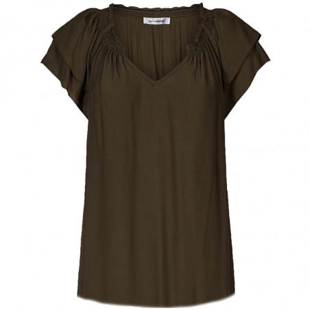 Co'Couture Bluse, Sunrise, Dark Army,