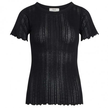 Mads Nørgaard T-shirt, Pointella Trixa, Black, økologisk bomuld, økologisk t-shirt, basic t-shirt, babylock